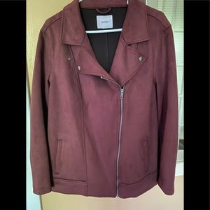 Old Navy maroon color motorcycle jacket!!
